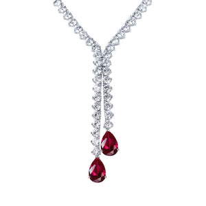Zoey Necklace (Ruby)