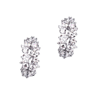 Livia Earrings (Rhodium)