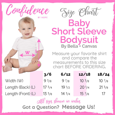 Though She Be But Little She is Fierce Baby Bodysuit