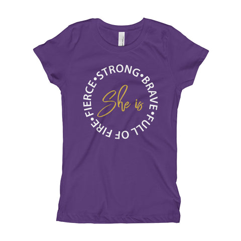 Image of She Is Everything Youth Girl's T-Shirt