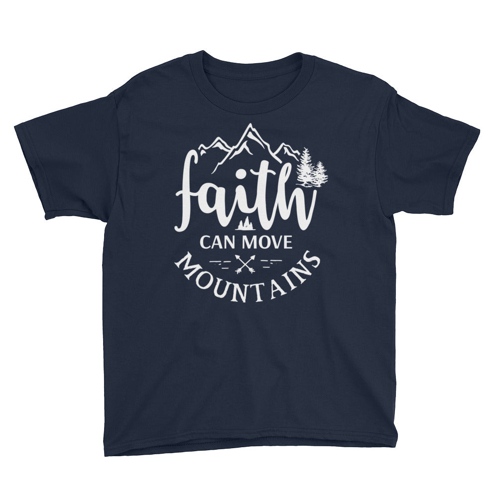 Faith Can Move Mountains Boys T-Shirt