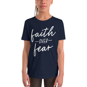 Faith Over Fear Youth Boys T-Shirt