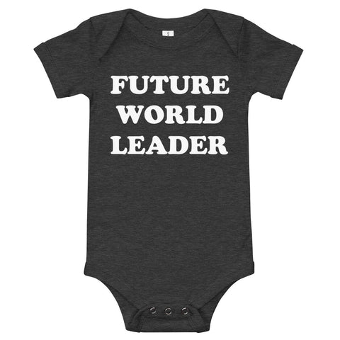 Image of Future World Leader Baby Bodysuit