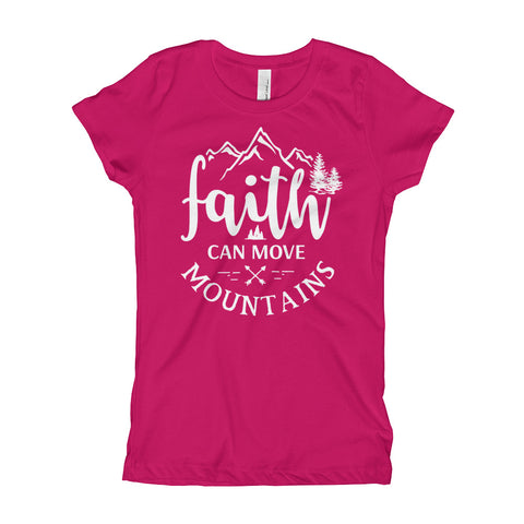 Image of Faith Can Move Mountains Girls T-Shirt