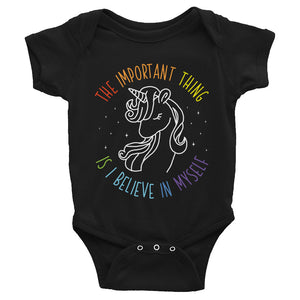 The Important Thing is I Believe in Myself Baby Bodysuit