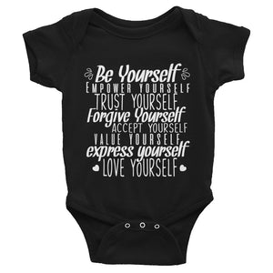 Be Yourself, Be Kindness Baby Onesie