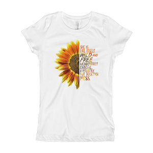 She's a Wildflower Youth Girl's T-Shirt