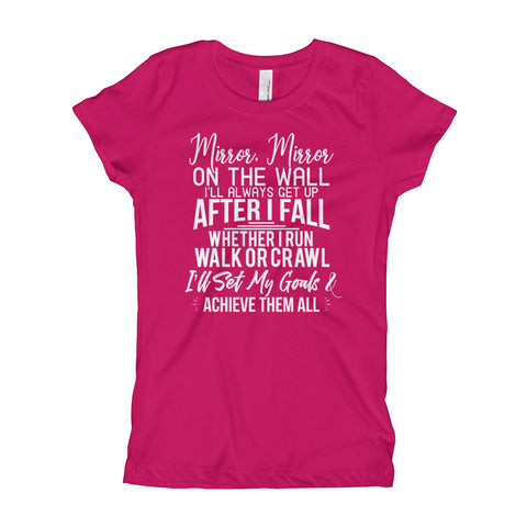 Achieve My Goals Youth Girls Shirt