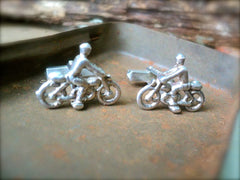 "Silver ""Man on a Motorbike"" Cufflinks"