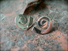 Silver Swirl Contemporary Earrings