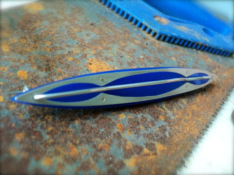 Silver and Acrylic Contemporary Brooch