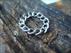 Silver Chain Link Flexible Ring