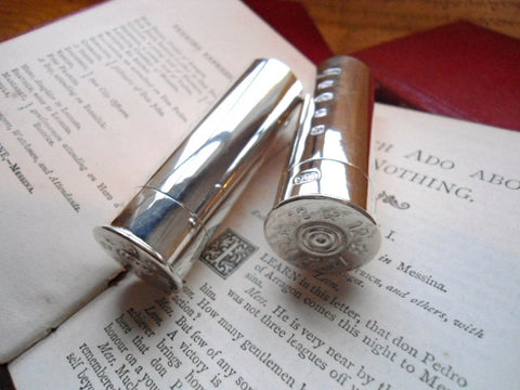 Silver Cartridge Case Salt & Pepper Shakers