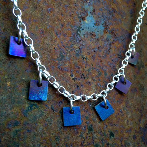 Silver and Titanium Contemporary Necklace