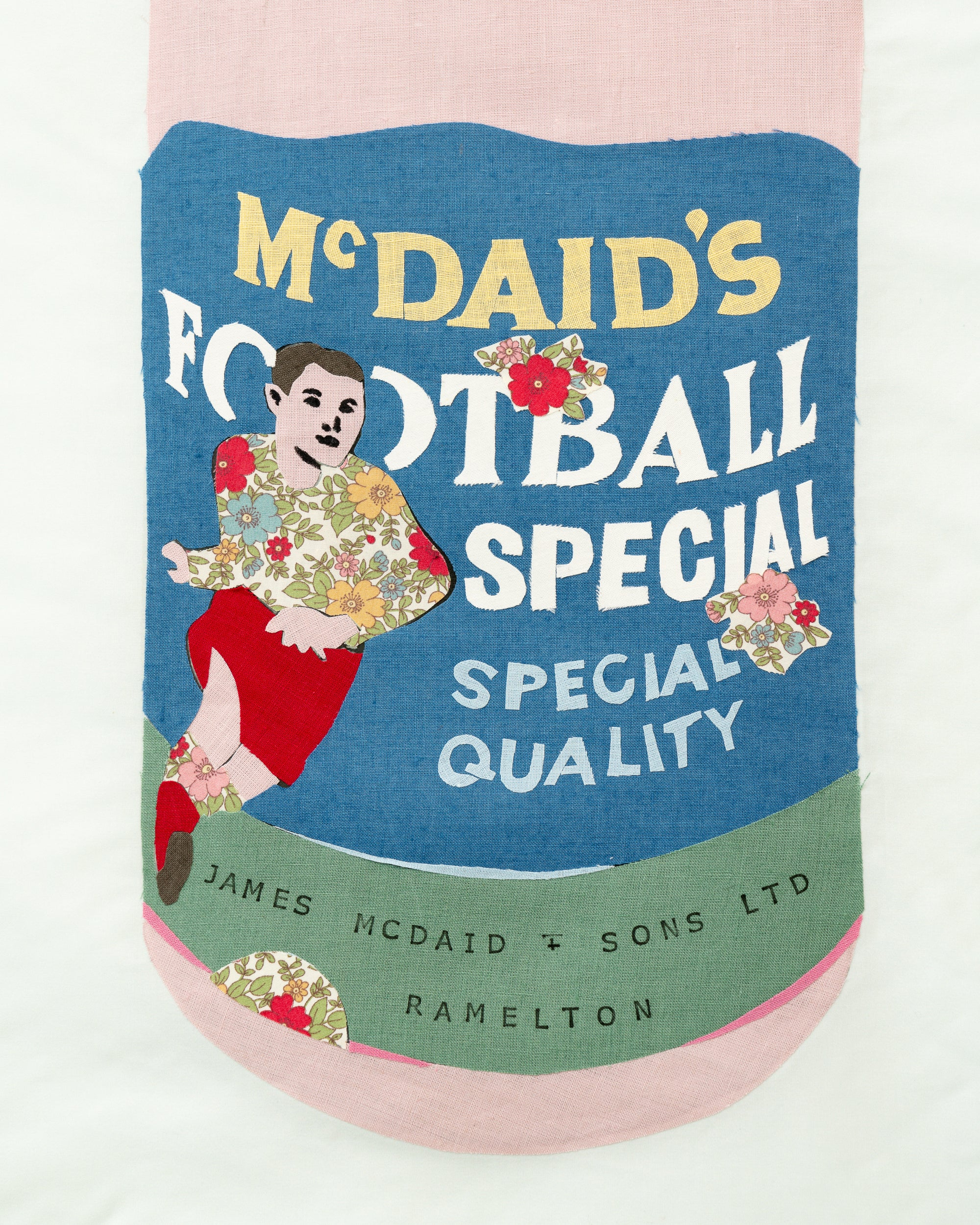 Textile Collage - McDaid's Football Special