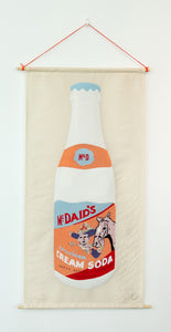 McDaid's Cream Soda - Textile Collage