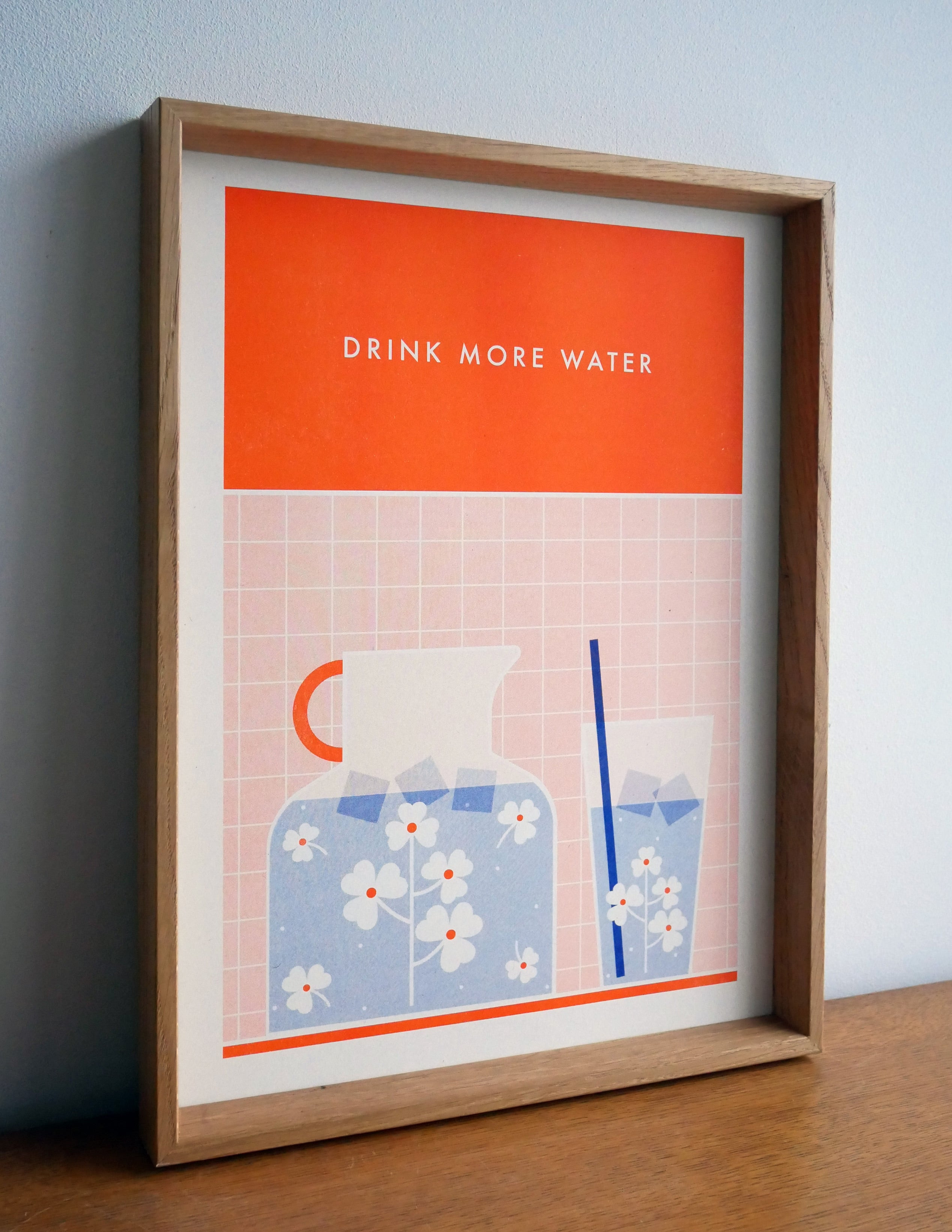 Riso Print - Drink More Water