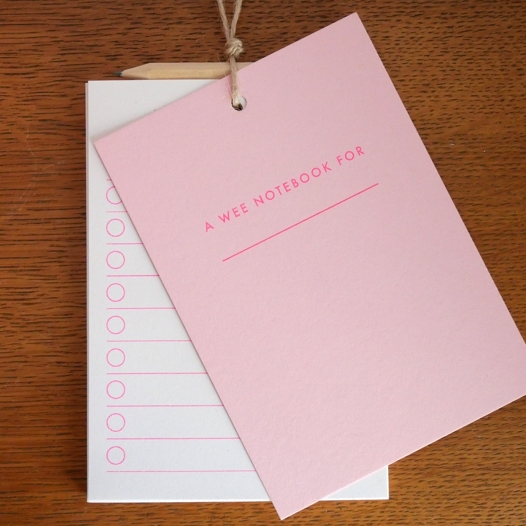 Notebook - The Wee Pink One