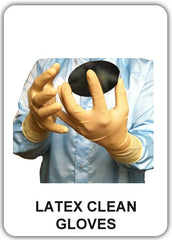 Latex clean gloves