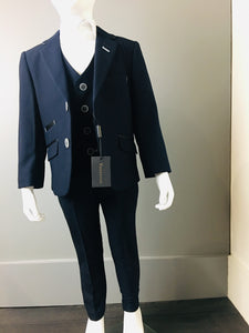 Navy Textured 3 Piece Suit