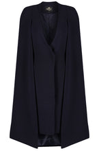 Load image into Gallery viewer, Navy Cape Dress