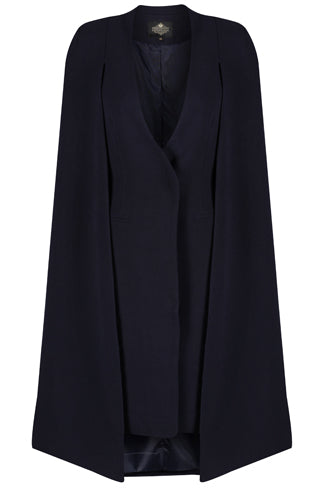 Navy Cape Dress