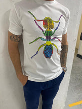 Load image into Gallery viewer, Boy's White Cotton Ant T Shirt