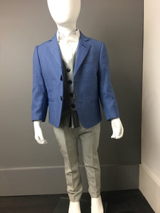 Light Blue & Light Grey 3 Piece Suit