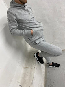 Light Grey Logo Panel Tracksuit