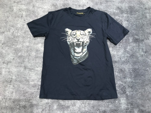 Navy Tiger Cotton T-Shirt