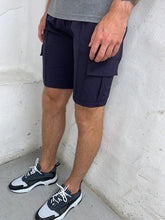 Load image into Gallery viewer, Navy Cargo Shorts