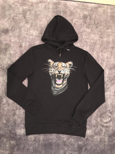 Luxury Black Tiger Hoodie