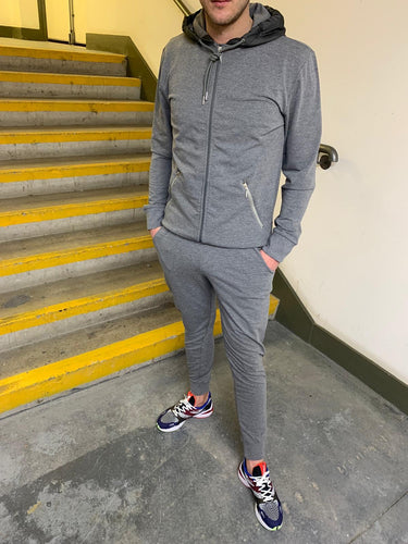 Marl Grey Hooded Tracksuit