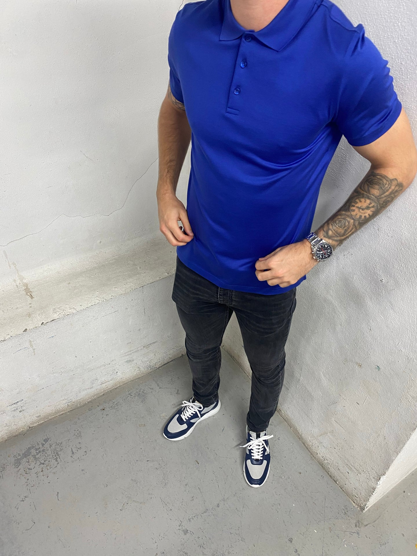 Sax Blue Short Sleeve Polo Shirt