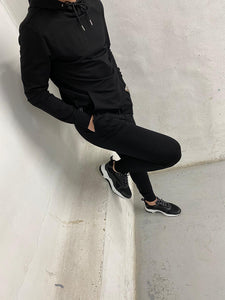 Black Logo Panel Tracksuit