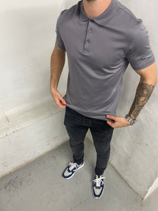 Dove Grey Short Sleeve Polo Shirt