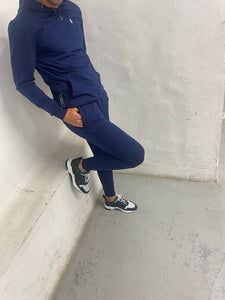 Navy Logo Panel Tracksuit