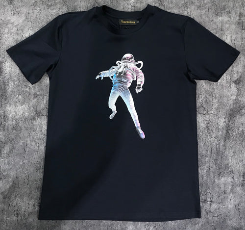 Navy Astronaut Cotton T-Shirt