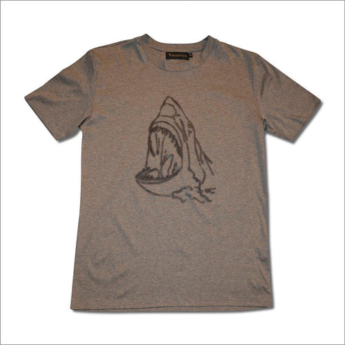 Grey shark Cotton T-Shirt
