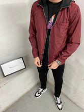Load image into Gallery viewer, Black-Burgundy Reverse Tech Jacket