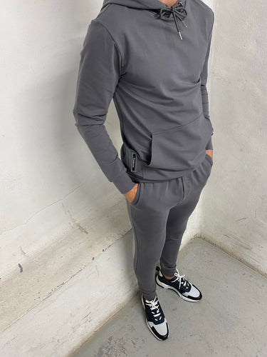 Graphite Logo Panel Tracksuit