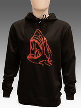 Load image into Gallery viewer, Luxury Red Shark Black Hoodie