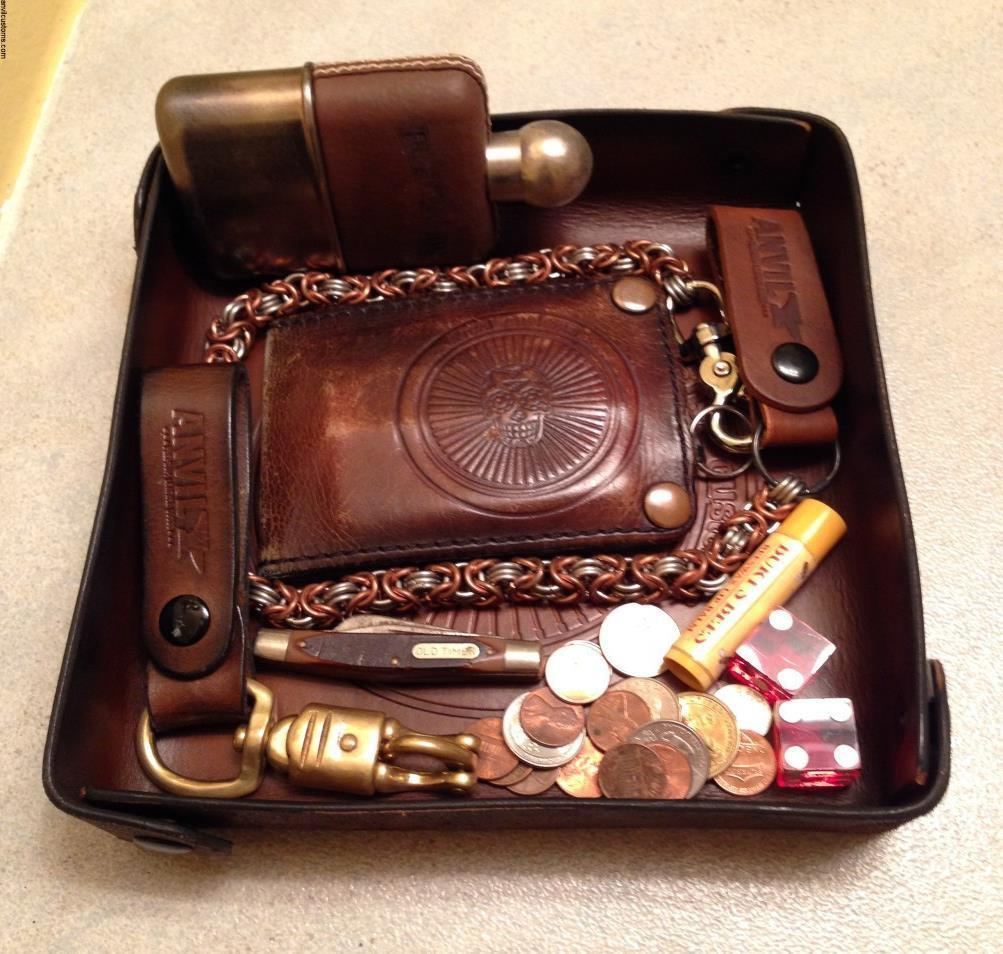 Leather Accessories Tray made by Anvil