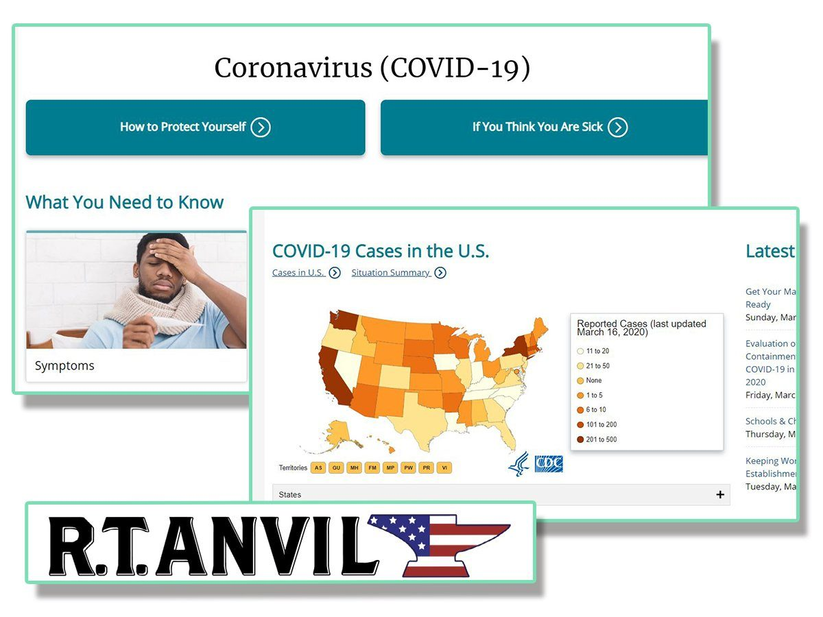 The Coronavirus As It Pertains to Anvil Customs and our Supporters