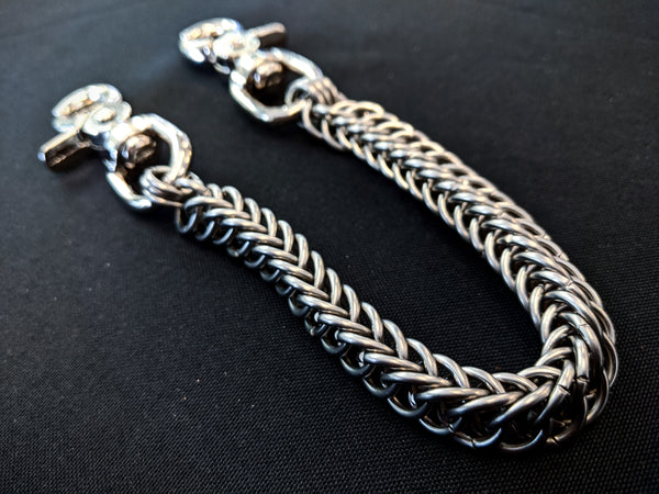 Stainless Steel Half-Persian Weave Chainmaille Wallet Chain from Anvil Customs