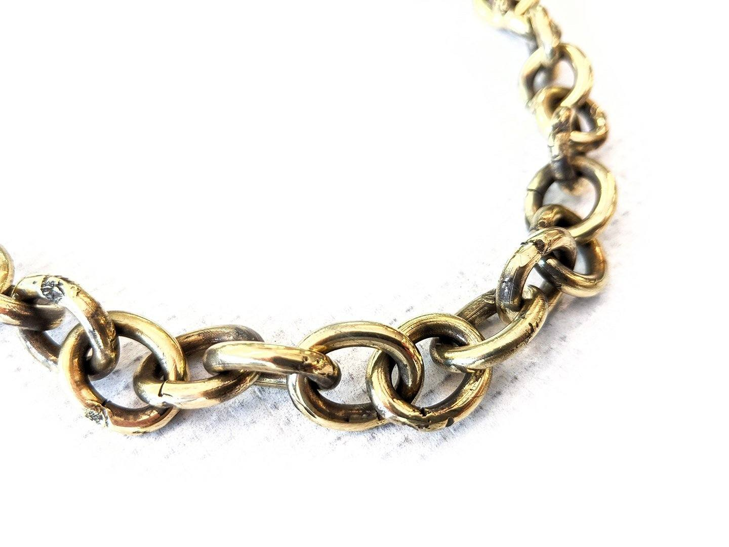 19 Inch Hand Forged Brass Wallet Chain - Anvil Customs