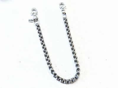 22 Inch 3 In 3 Chain Mail Wallet Chain w/.925 Silver Lucky Horseshoe Clasps - Anvil Customs