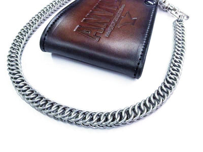 22 Inch Half Persian Chain Mail Wallet Chain - Anvil Customs