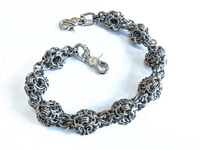 24 Inch Mace Weave Chain Mail Wallet Chain - Anvil Customs