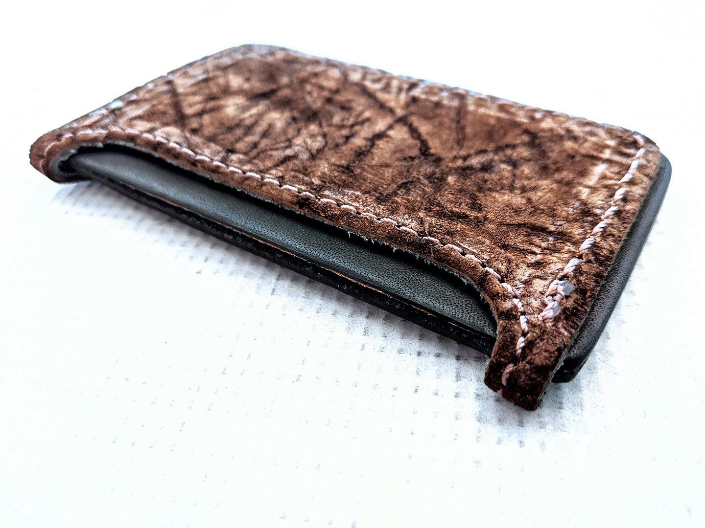 3 Pocket Card Wallet - Chocolate Hippo - Anvil Customs